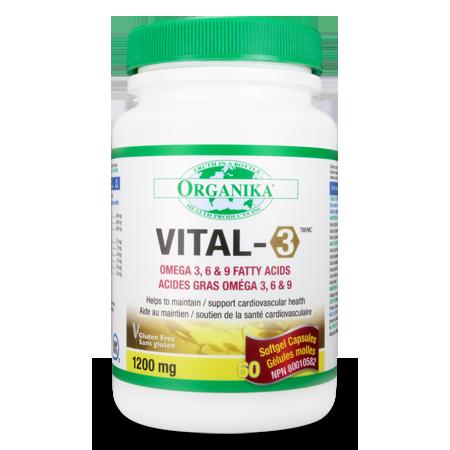 Organika Vital-3 oméga 3-6-9 60cap