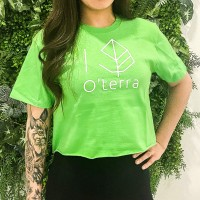 O'terra Crop top green