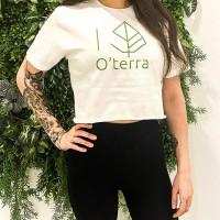 O'terra Crop top T-shirt White