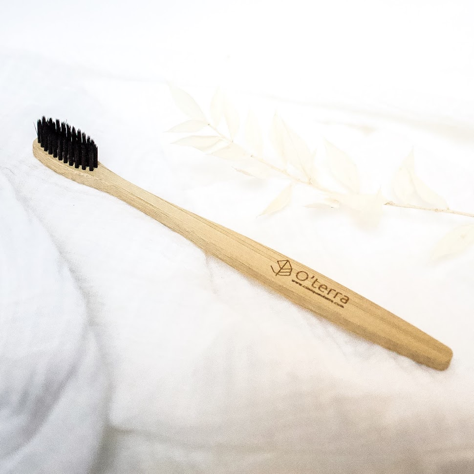 O'terra Bamboo toothbrush 1 brush