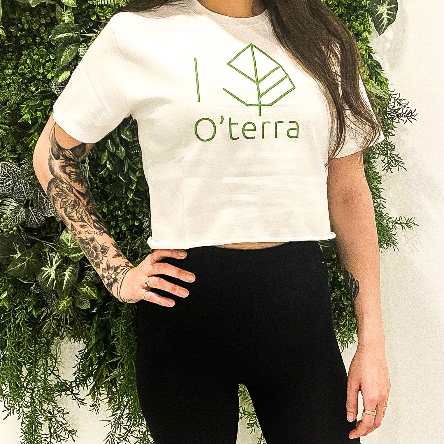 O'terra Chandail « crop top » blanc